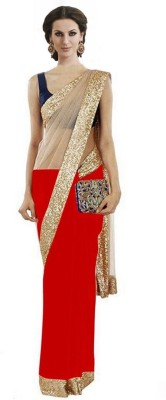 Nairiti Fashions Self Design Fashion Net, Georgette Sari