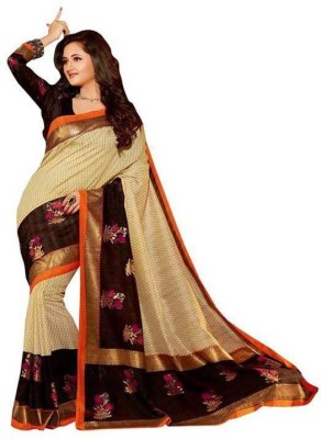 Shivam Saree Printed Bhagalpuri Silk Sari available at Flipkart for Rs.395