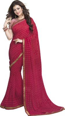 Aadinath Designer Checkered Fashion Georgette Sari