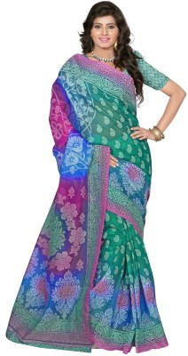 PS Enterprise Printed Daily Wear Handloom Net Sari