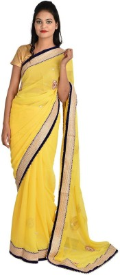 Jyoti Sarees Embriodered Fashion Chiffon Sari