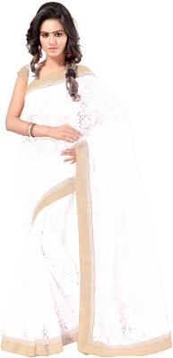 Aruna Sarees Plain, Self Design Fashion Handloom Brasso Sari