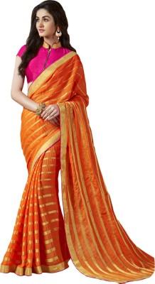 Shoponbit Self Design Bollywood Viscose Sari