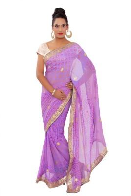 Shri Narayan Fashions Self Design Bandhej Pure Georgette Sari