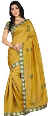 Ustaad Embriodered Fashion Art Silk Sari
