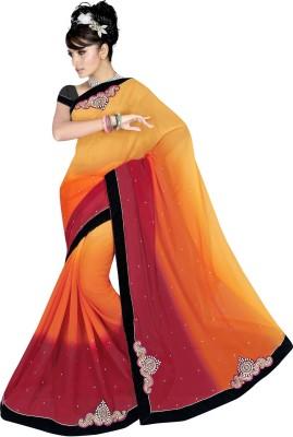 Ranas Fashion74 Embriodered, Self Design Fashion Chiffon Sari