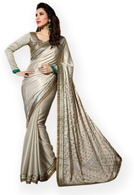 Vidya Fashion Embriodered Fashion Shimmer Fabric Sari