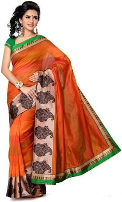 Diffusionz Self Design Fashion Silk Sari