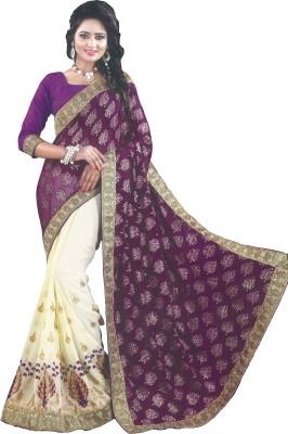 Lata Embriodered, Embellished Bollywood Georgette, Brasso Sari
