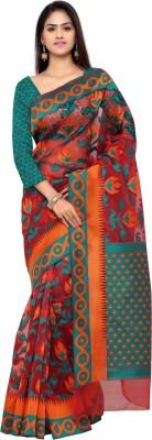 Inddus Woven Fashion Art Silk Saree(Maroon) at flipkart