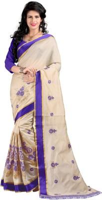 Glamoroussurat Fashion Embriodered Bollywood Handloom Art Silk Sari