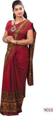 Uniformsareesindia Printed Daily Wear Crepe Sari