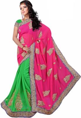 Premvati Embriodered Fashion Handloom Chiffon Sari
