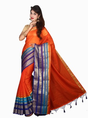 Glamorous Lady Self Design Bollywood Silk Cotton Blend Sari