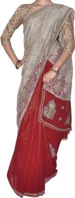 SESCO Embellished Fashion Net, Georgette Sari