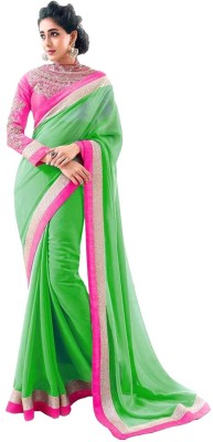 Poonam Saree Printed Fashion Georgette Sari
