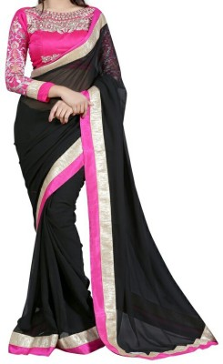 Saiyaara Fashion Striped Fashion Chiffon Sari
