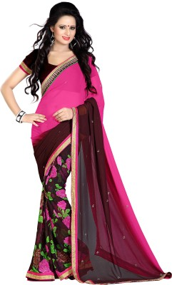 Darsh Floral Print Fashion Georgette Sari