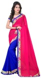 SareeShop Solid Fashion Georgette Saree ...
