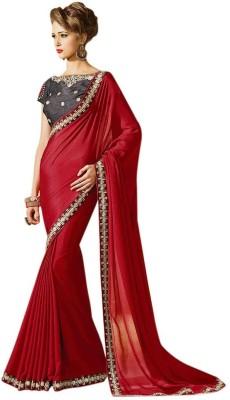 Shreeji Fashion Embriodered Fashion Satin, Chiffon Sari