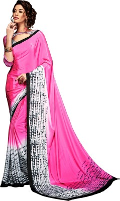 fashionzone Printed, Self Design Bollywood Pure Crepe Sari(Multicolor)