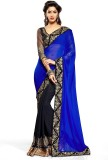 Click Sarees Embroidered Bollywood Georg...
