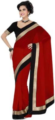 EthnicBae Self Design Fashion Handloom Georgette Sari
