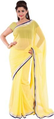 Mitali's Collection Solid Bollywood Chiffon Sari