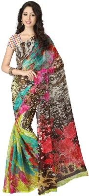 Memsahiba Printed Fashion Chiffon Sari