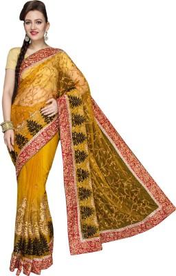 Fashionportfolio Embriodered Fashion Handloom Net Sari