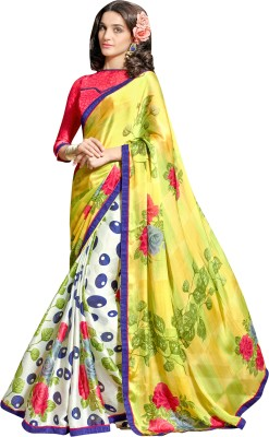 Thelibazz Printed Fashion Satin Sari