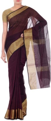 Paradise Fashion Plain Chanderi Handloom Georgette Sari
