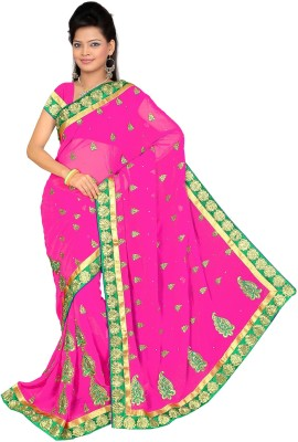 Swami Syntex Embellished Bollywood Chiffon Sari