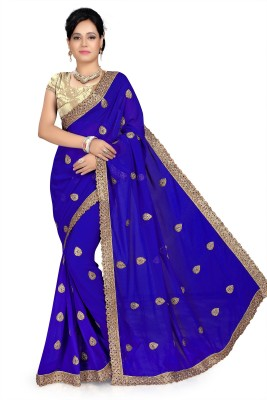 Hari Krishna sarees Embriodered Bollywood Georgette Sari