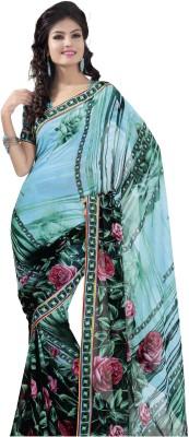 Women Villa Printed Bollywood Georgette Sari