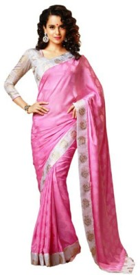 Pihu Fashion Printed Fashion Handloom Satin Sari