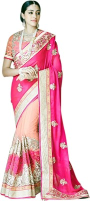AC Creation Floral Print Bollywood Pure Georgette Sari