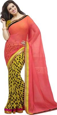 Krishnaamfashion Printed Daily Wear Georgette Sari
