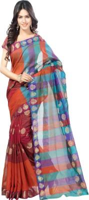 Sanju Sarees Plain Fashion Banarasi Silk Sari