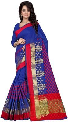 Clothvilla Printed Banarasi Cotton Sari