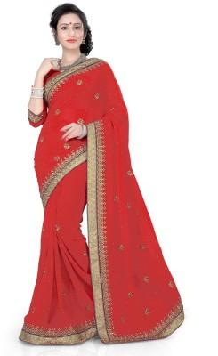 Indian E Fashion Embriodered, Self Design Fashion Georgette Sari