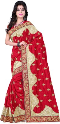 Fabviva Embriodered Assam Silk Pure Silk Sari