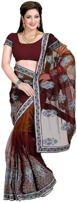 Dealtz Fashion Printed Fashion Net Sari