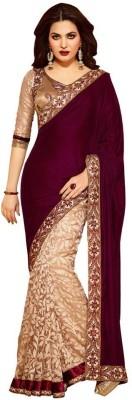 Define Jewellery Embriodered Bollywood Velvet Sari