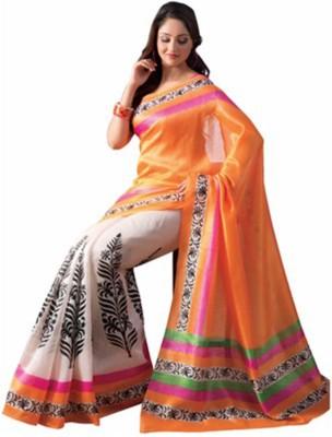 VINCITORE Printed Bollywood Silk Sari