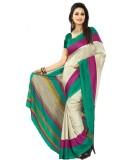 Saran Embellished, Striped Fashion Art S...