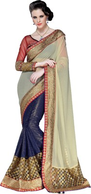 Crafts N Culture Self Design Fashion Pure Georgette Sari