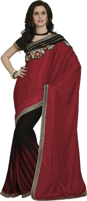 Subhash Sarees Embriodered Fashion Chiffon, Georgette Sari