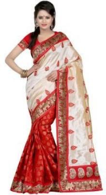 LaazreeFashion Plain Fashion Handloom Silk Sari