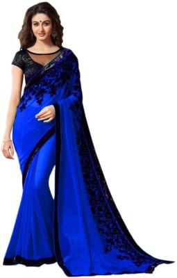 Shamaji Enterprise Self Design Bollywood Georgette Sari